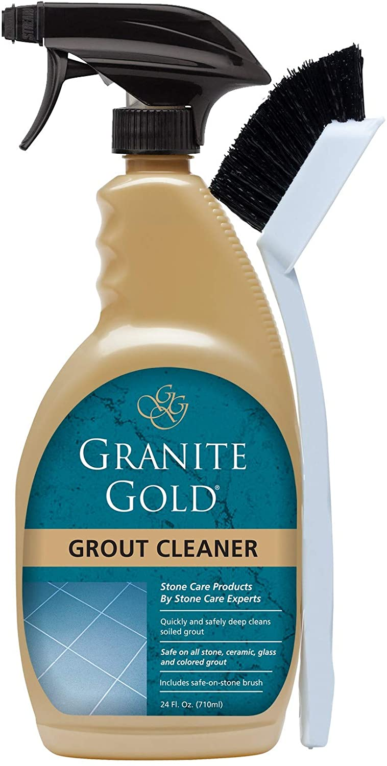Granite Gold Grout Cleaner and Scrub Brush- Acid-Free Tile   Grout Steam Cleaners