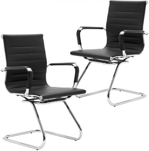 Wahson Heavy Duty Leather Office Guest Chair | Modern Office Furniture