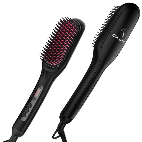 COOLKESI Ionic Hair Straightener Brush