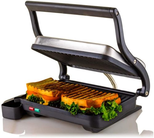 5. OVENTE Electric Panini Press Grill Sandwich Maker