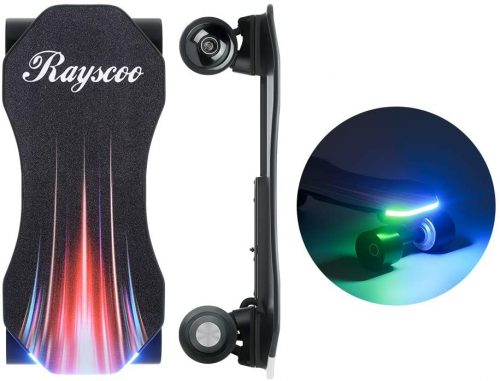 Teamgee Electric Skateboard, Rayscoo [Hands Free][Built-in LED Light] 10MPH Safety Speed Portable Mini Skateboard