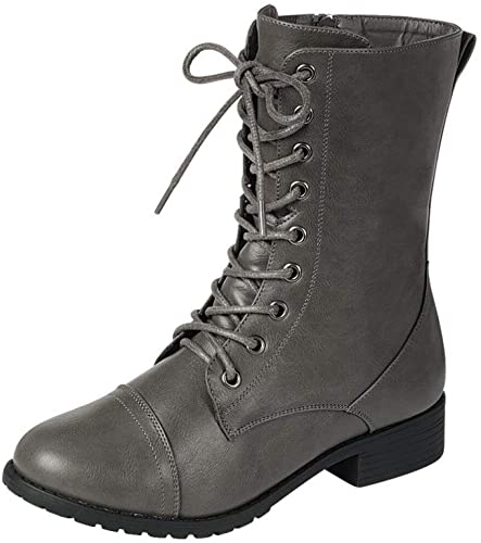 Forever Link Womens Military Combat Boots - Black Boots
