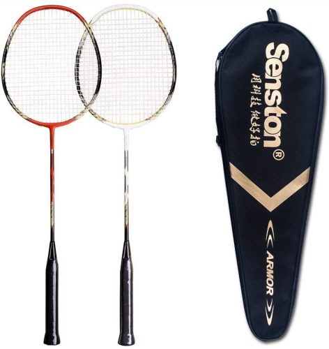 Senston - 2 Pack Badminton Rackets Double Badminton