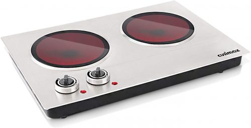 Cusimax Hot Plate Electric Double Burner | Infrared Cooker