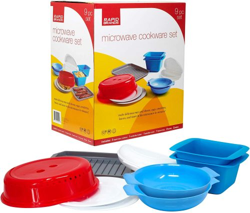 Rapid Brands Deluxe 9-Piece Microwave Cookware & Dinnerware Set
