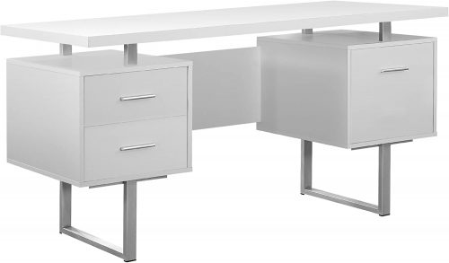 Monarch Specialties White Hollow | Modern Office Furniture