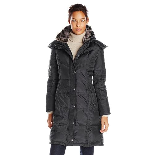 London Fog Women's Chevron Coat | Fur Clothing