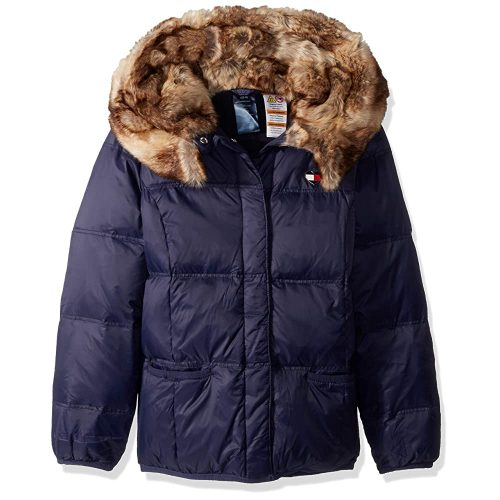 Tommy Hilfiger Girls' Little Adaptive Puffer Jacket | Fur Clothing