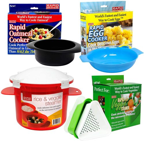 Jen Widerstrom 4-Piece Rapid Microwave Cookware Set