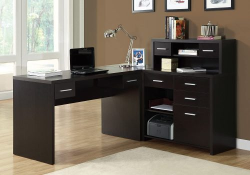 Monarch Specialties Computer Desk L-Shaped | Modern Office Furniture