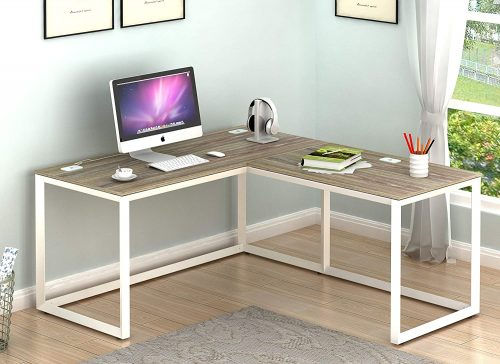 SHW Triangle-Leg Home Office Computer Desk | Modern Office Furniture