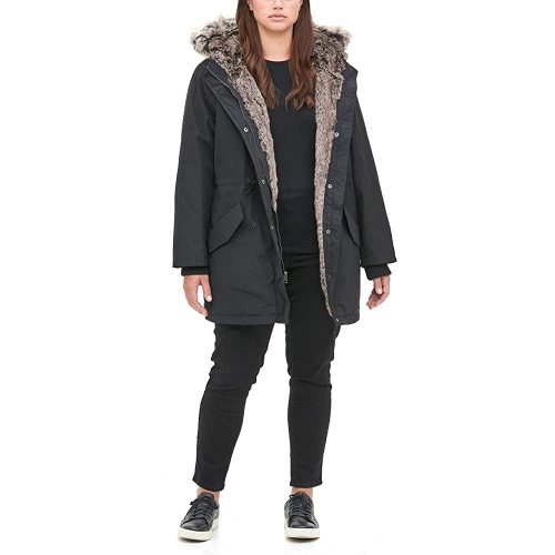Levi's Women's Faux Fur Lined Hooded Parka Jacket | Fur Clothing