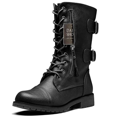 DailyShoes Women's Ankle Bootie - Black Boots