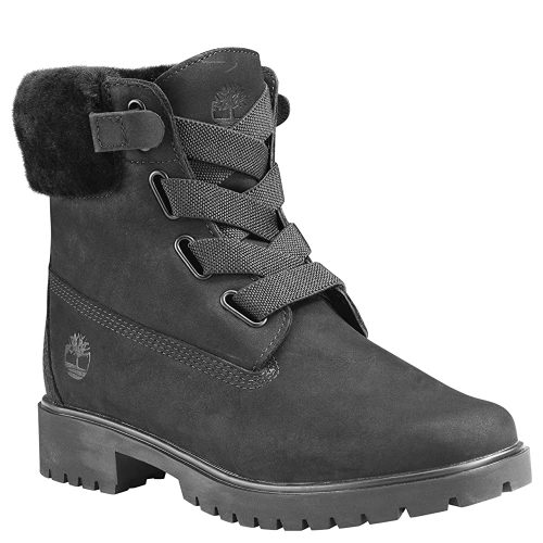 Timberland Women's Jayne Shearling Convenience Boot - Black Boots