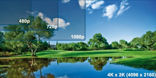 Difference between a 1080p and a 720p projector
