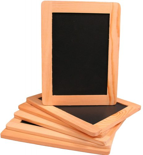 Creative Hobbies Synthetic Chalkboard with unfinished wood frame| Small Chalkboards