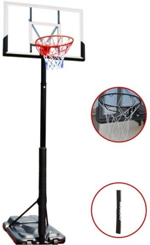 ZAIHW Portable Basketball Hoop System In-Ground Base