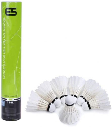 WMMDM 12 Pack Goose Feather Badminton Shuttlecocks Balls with Great Stability & Durability, Training Birdies Balls for Indoor Outdoor