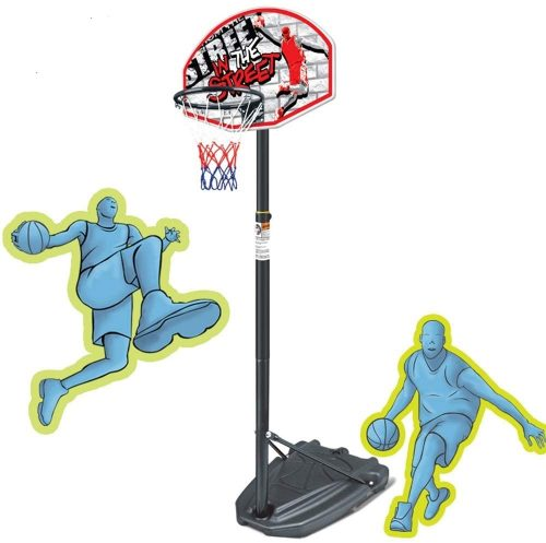 DERTHWER Kids Adjustable Protable Basketball Set