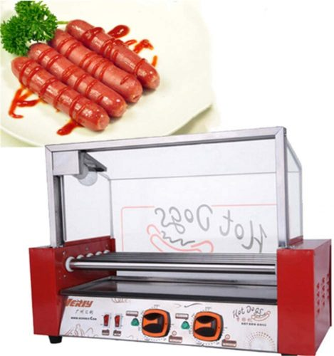 t9 7 Roller Commercial Electric Hot Dog Grill Cooker Machine