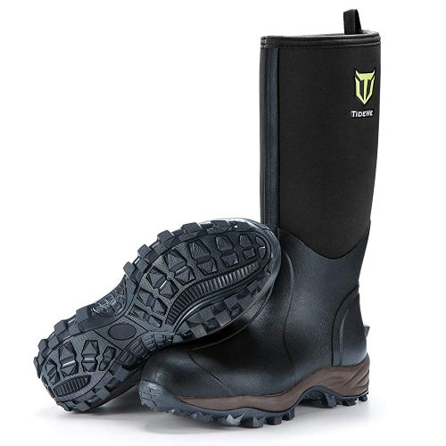 TideWe Rubber Neoprene Boots Men and Women | Rubber Hunting Boot