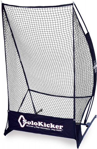 "Bownet 7'4"" x 4' Portable Solo Kicker Punting and Kicking Practice Net, Black"