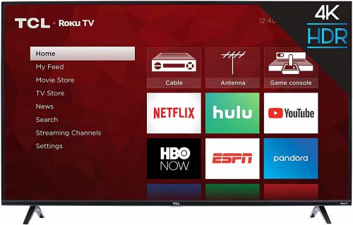 TCL 50S425 50 inch 4K Smart LED Roku TV  | 4K TV For PS5