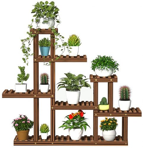 Wooden Plant Stands for Indoor Plants | Outdoor Plant Shelves