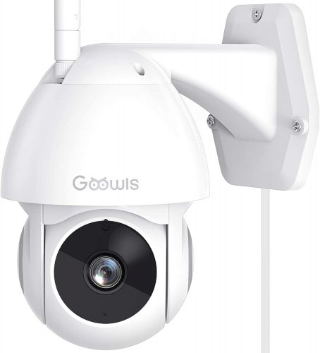 Security Camera Outdoor, Goowls 1080P Pan | Wireless Outdoor Security Camera