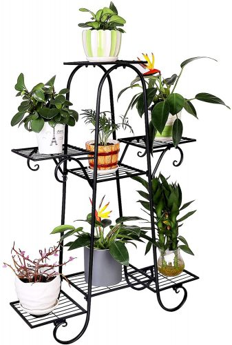 unho 7 Tier Plant Stands Indoor Metal Plant | Outdoor Plant Shelves