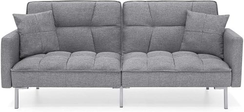 Best Choice Products Linen Upholstered Tufted| Sofa Set