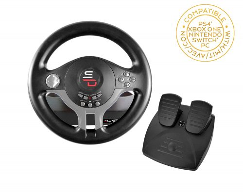 Subsonic Superdrive - Driving Wheel with pedals| PS4 Steering Wheel